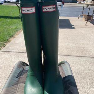 Hunter rainboots size 6